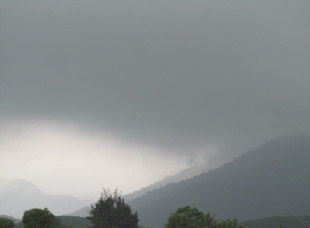 Hai Van Pass - ocean mist