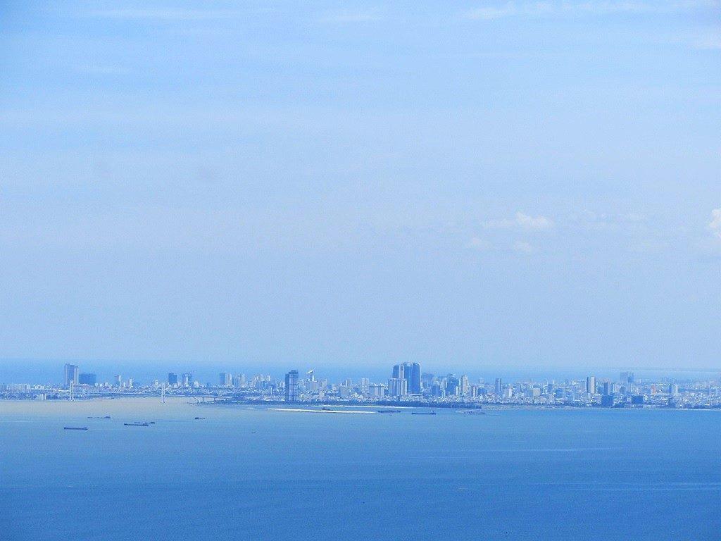 Danang City, seen from the Hai Van Pass, Vietnam