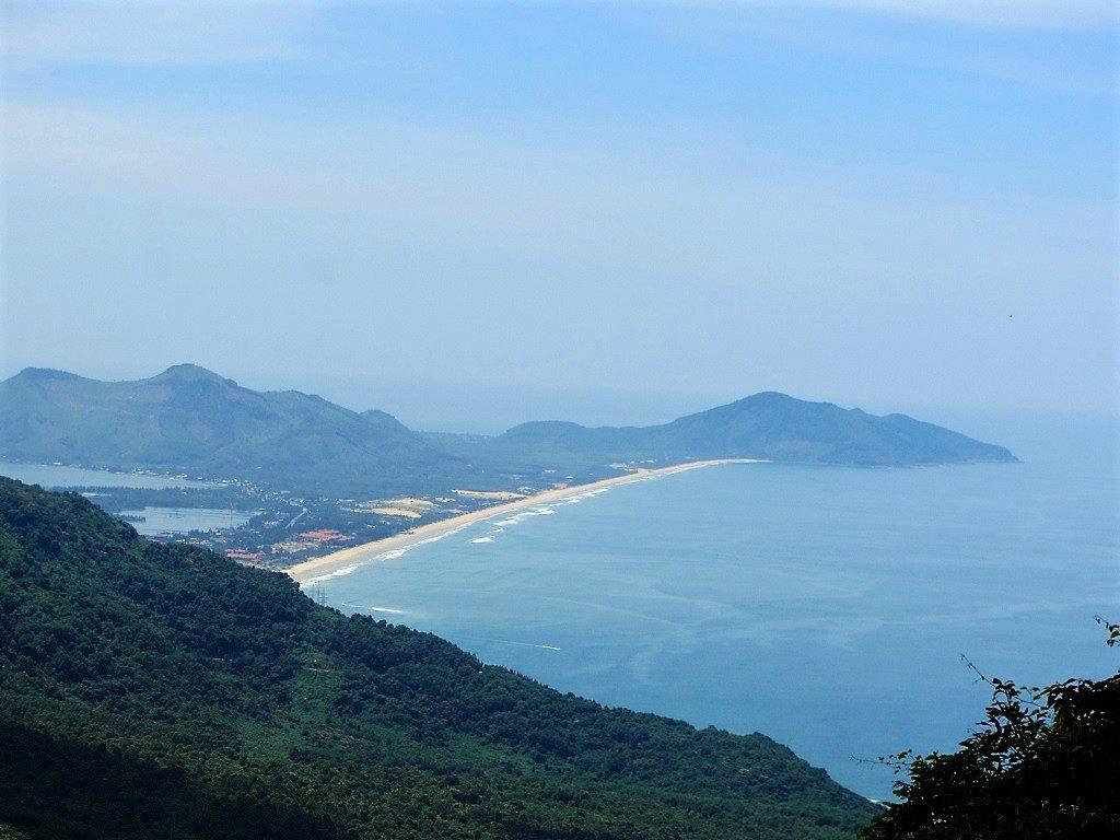 Lang Co Beach, seen from the Hai Van Pass, Vietnam