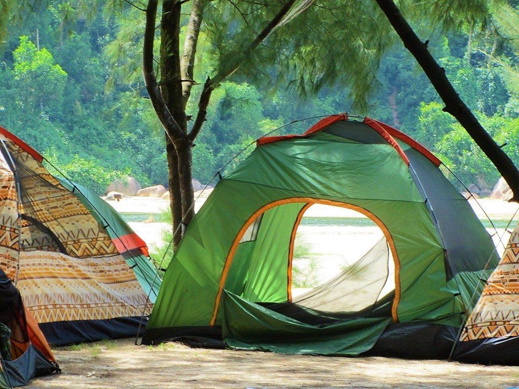 Camping, Chan May Beach, Lang Co, Vietnam
