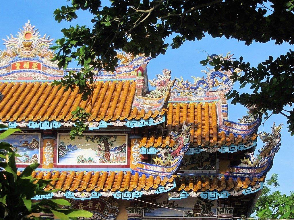 Decorative tombs & temples on Road QL49B, near Hue, Vietnam