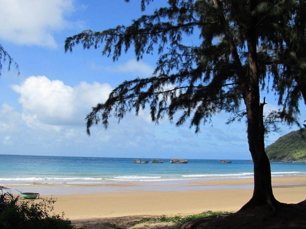 Duc me con so long beach - Dam Trau Beach Near The Airport In The North Of Con Son Island