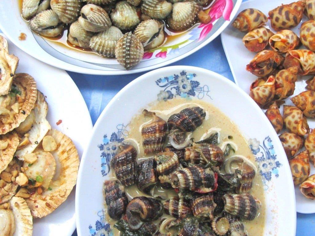 Snails & shellfish in Saigon, Vietnam