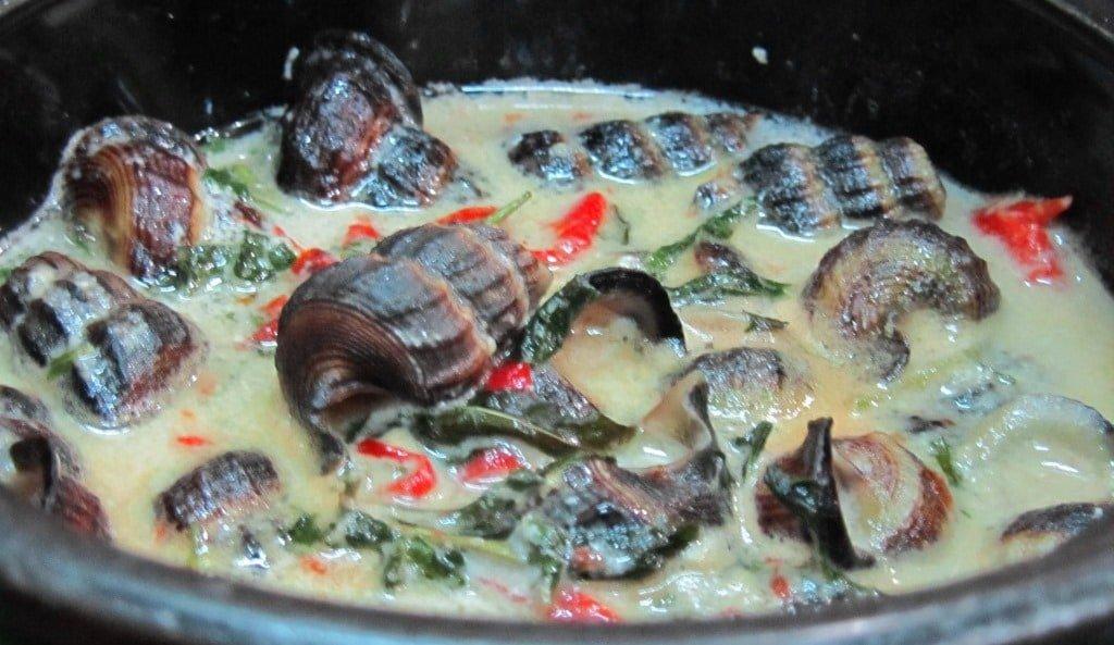 Eating snails in Saigon, Vietnam