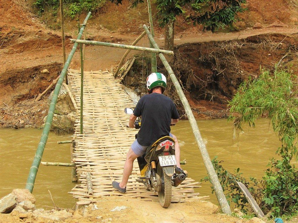 Bamboo bridge, Pu Luong Nature Reserve, Thanh Hoa Province, Vietnam