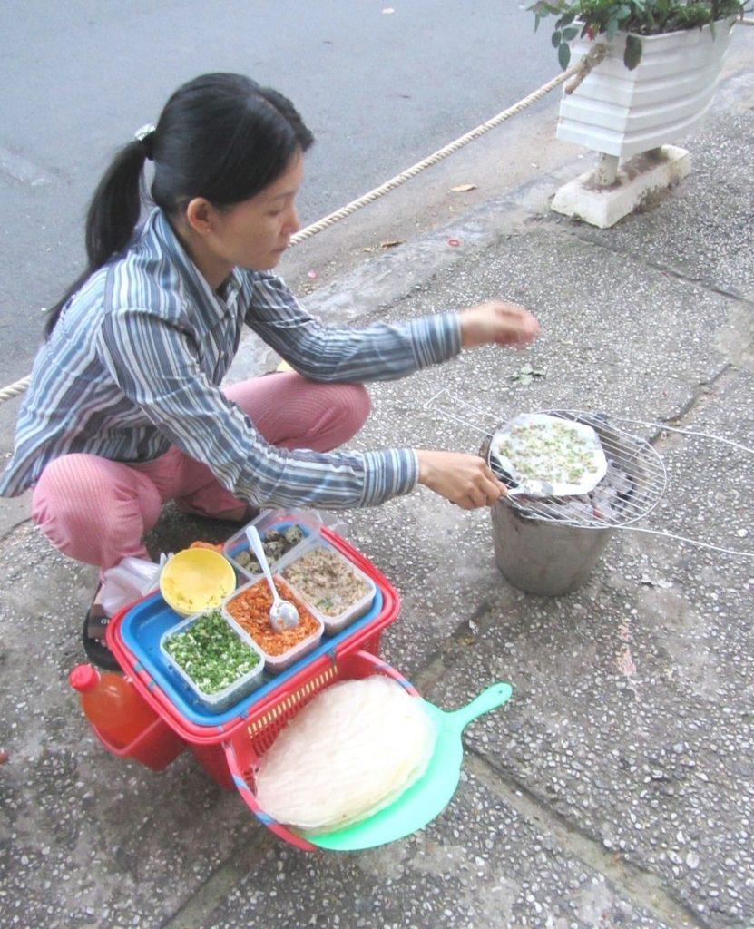 Snacks - grilled rice-pancakes