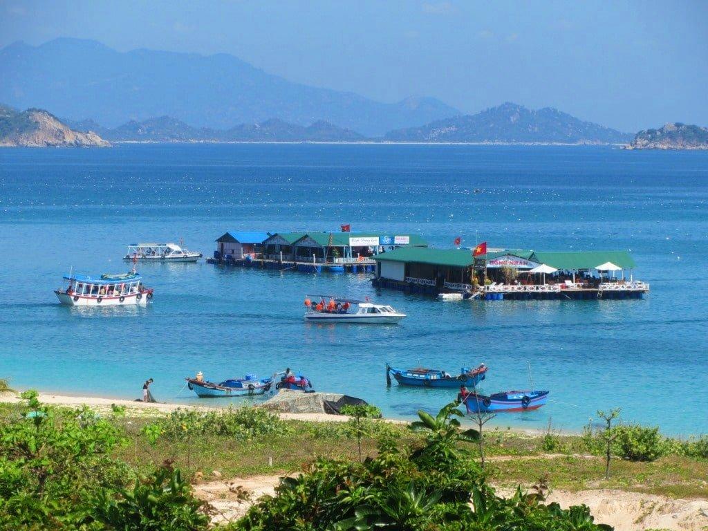 Floating restaurants, Nui Chua Coast Road, Ninh Thuan, Vietnam