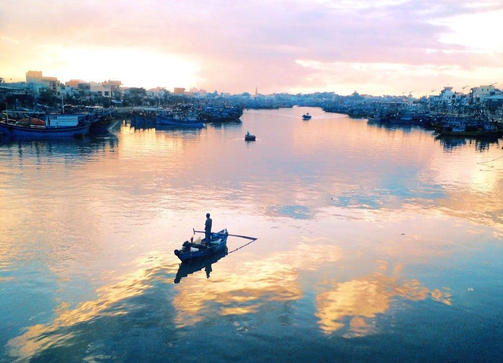 Phan Thiet at dawn, Vietnam