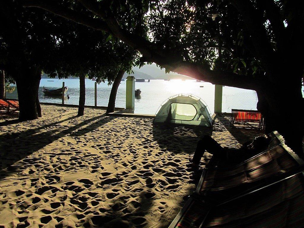 Hon Gom Sandbar, camping at Vuon Xoai, Vietnam