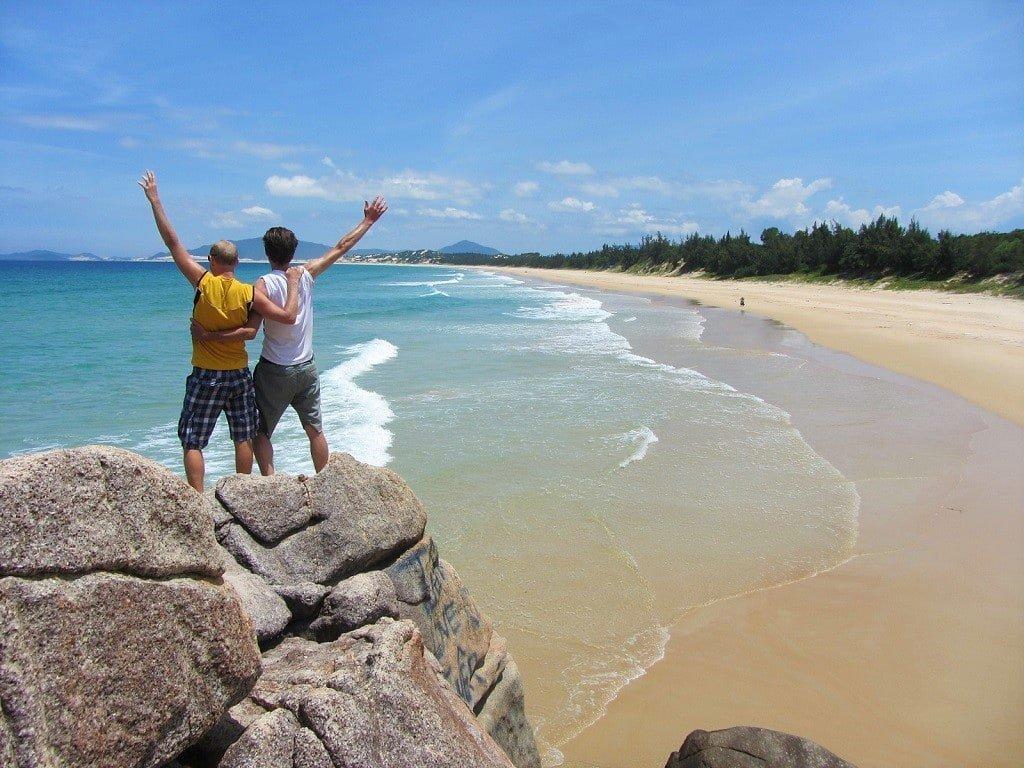 Hon Gom Sandbar beach, Khanh Hoa Province, Vietnam
