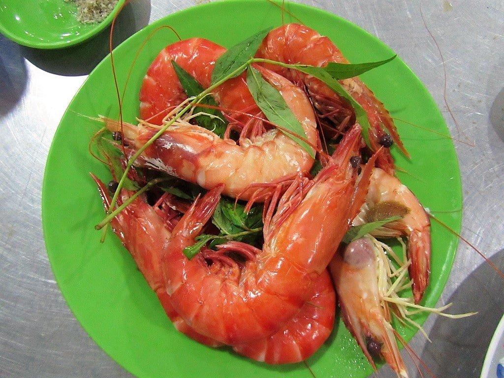 Seafood on Hon Gom Sandbar, Vietnam