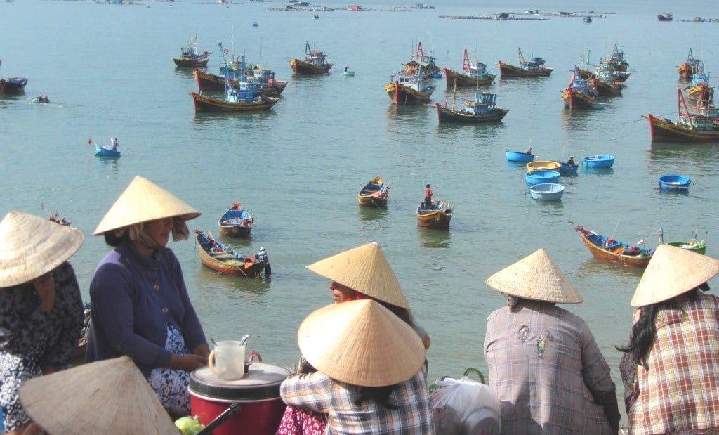 The fishing fleet at Mui Ne