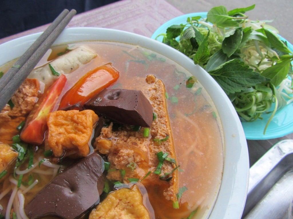 Bún riêu: a crab-based noodle soup