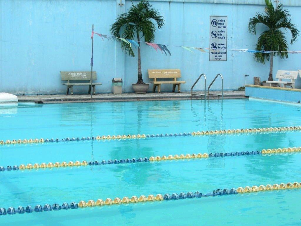 Cong Hoa swimming pool, Saigon, Vietnam