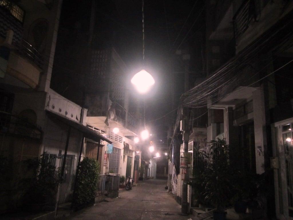 Walking and exploring Saigon's alleyways, Vietnam