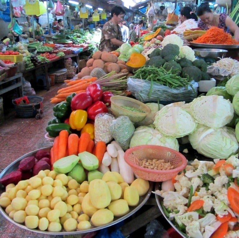 Vegetables at Xom Chieu Market