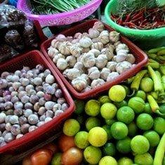 Local market in Saigon
