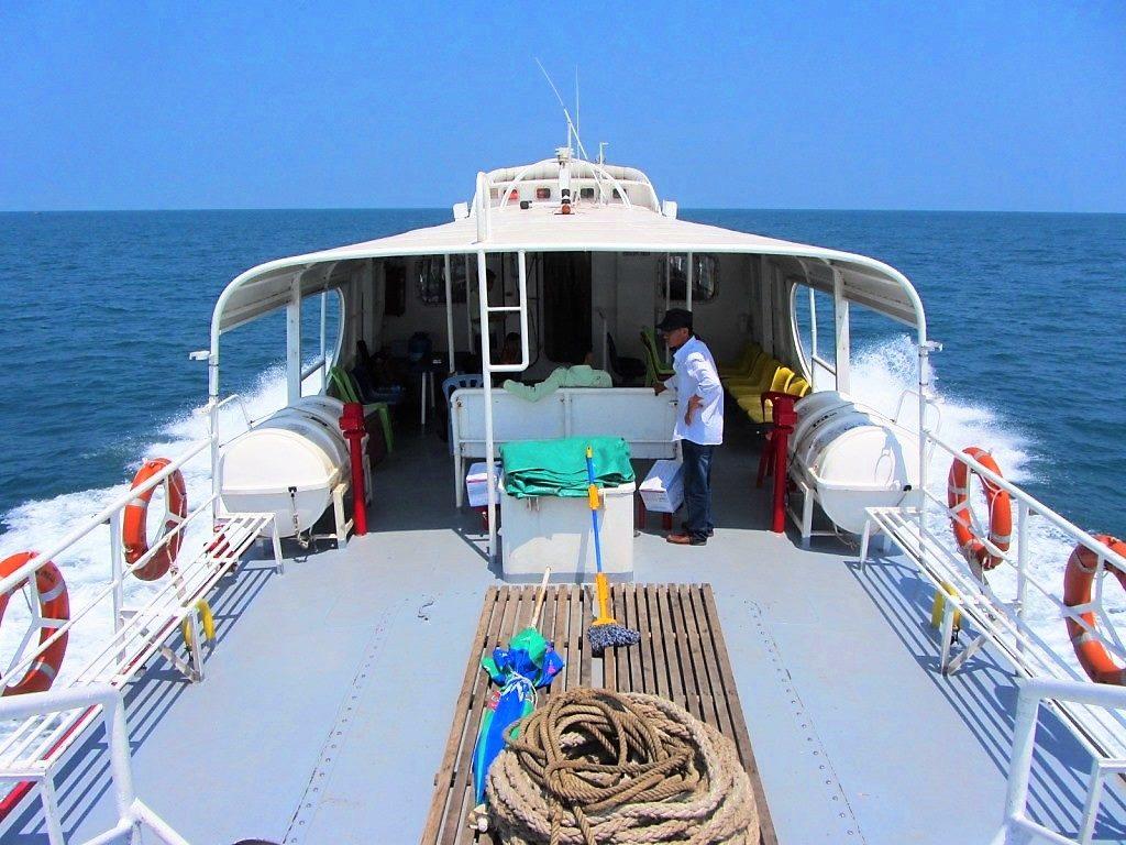 The fast boat between Ha Tien & Phu Quoc Island, Vietnam