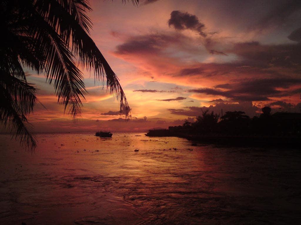 Sunset in Rach Gia, Mekong Delta, Vietnam