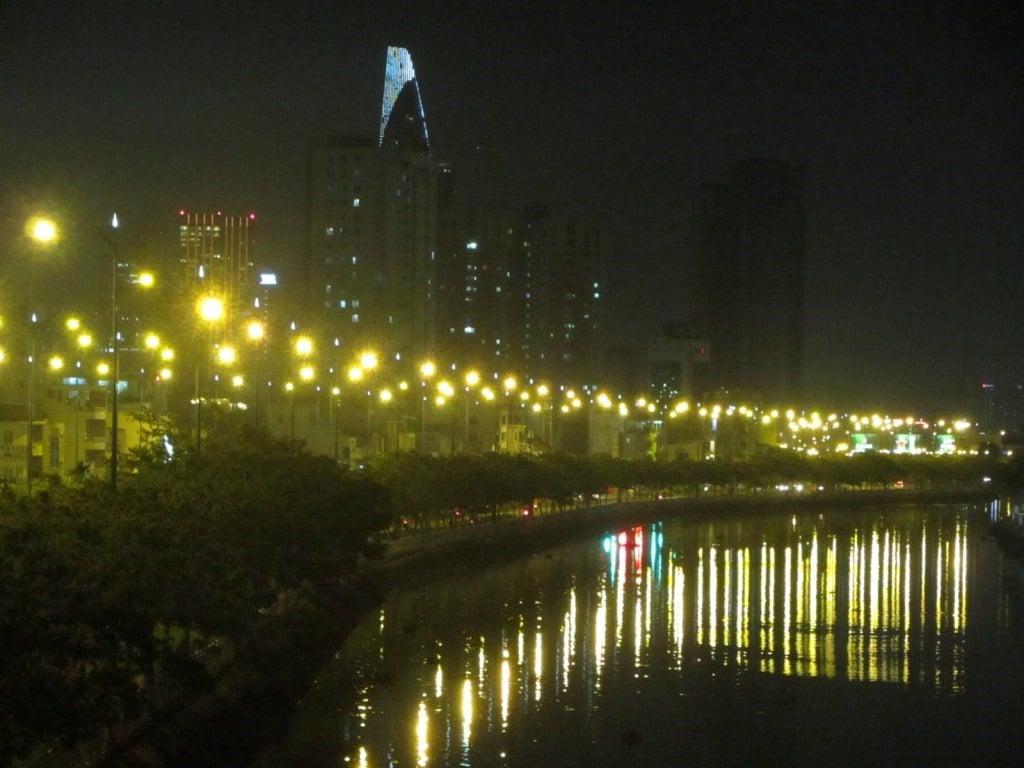 Saigon at night, Ho Chi Minh City, Vietnam