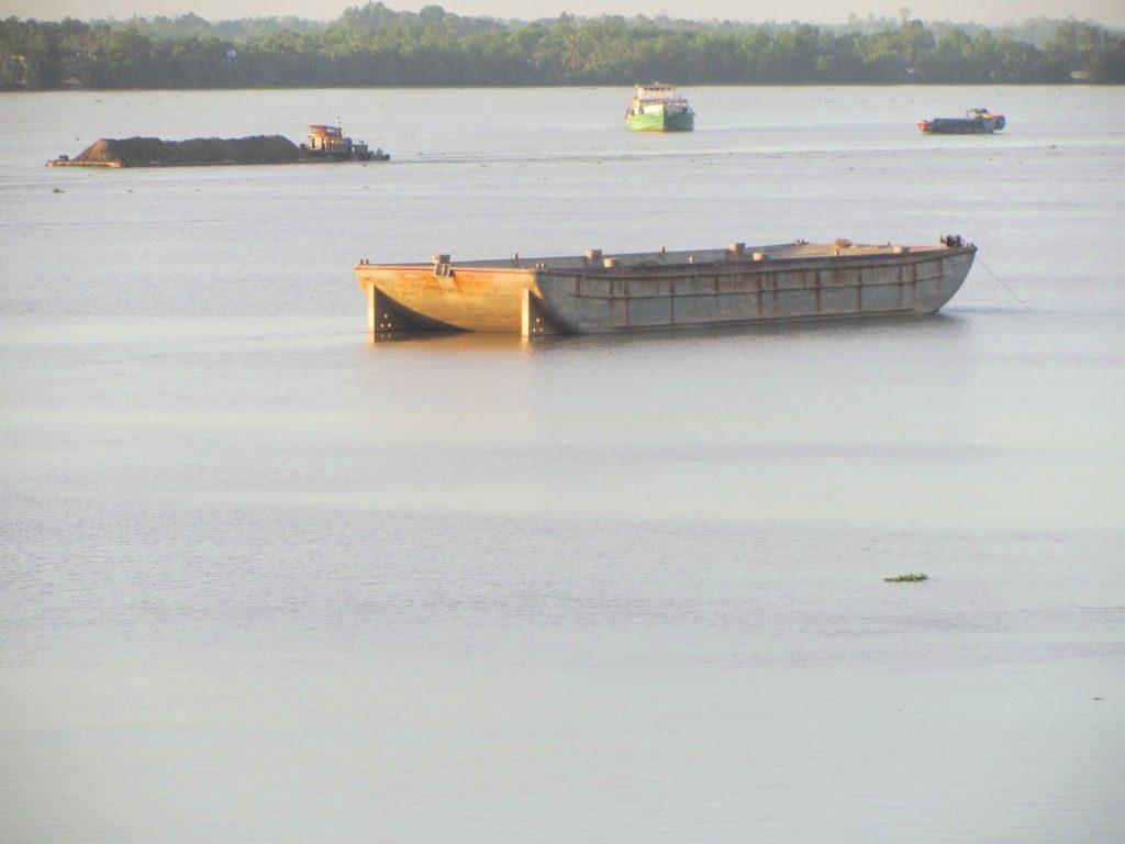 View from My Loi Bridge, Mekong Delta, Vietnam