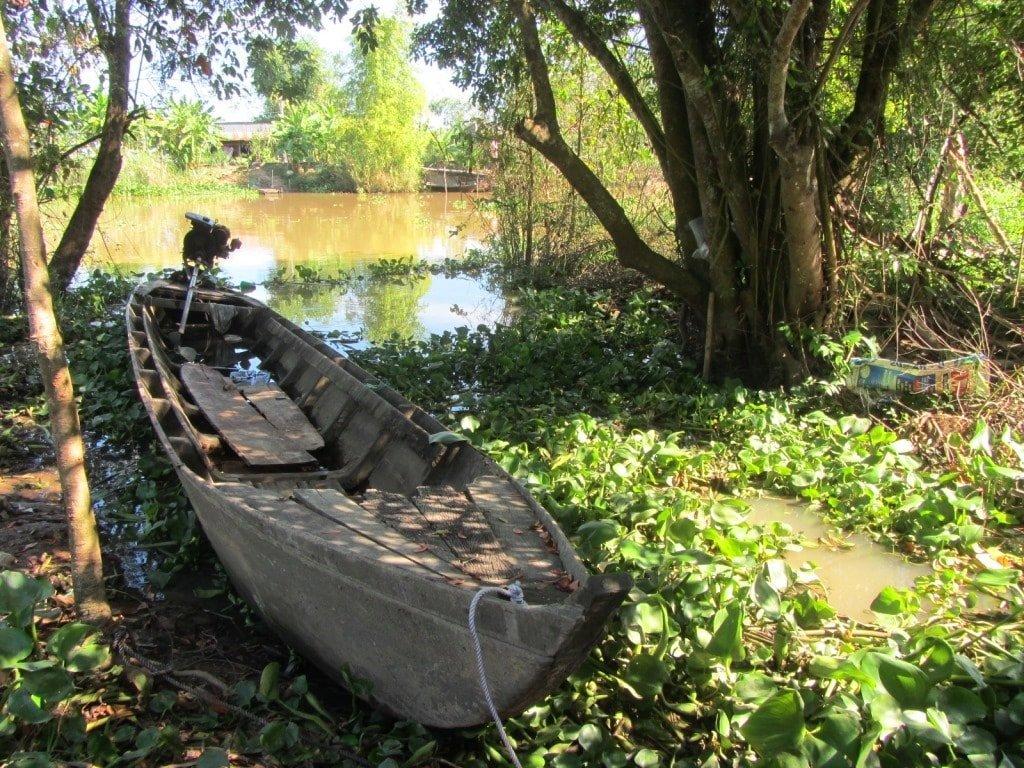 A wooden boat, Mekong Delta, Vietnam