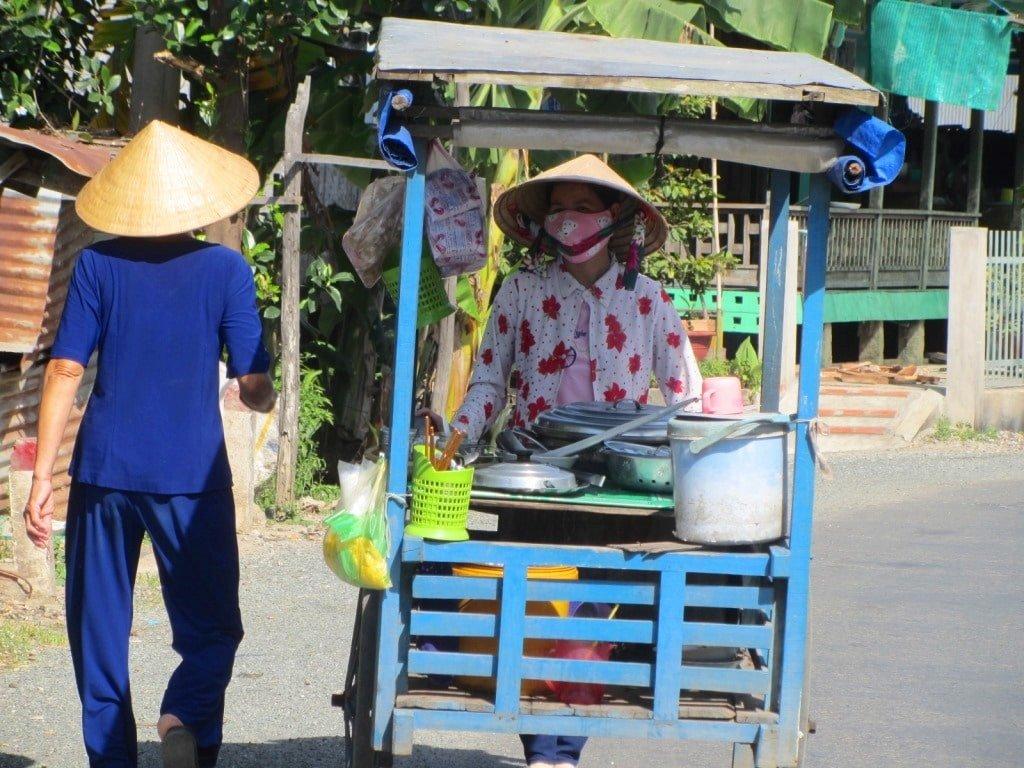 Street food cart in the Mekong Delta, Vietnam