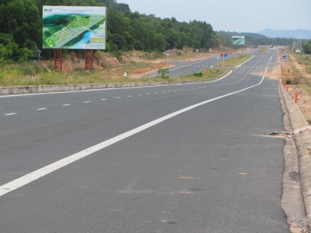 New roads on Phu Quoc Island, Vietnam