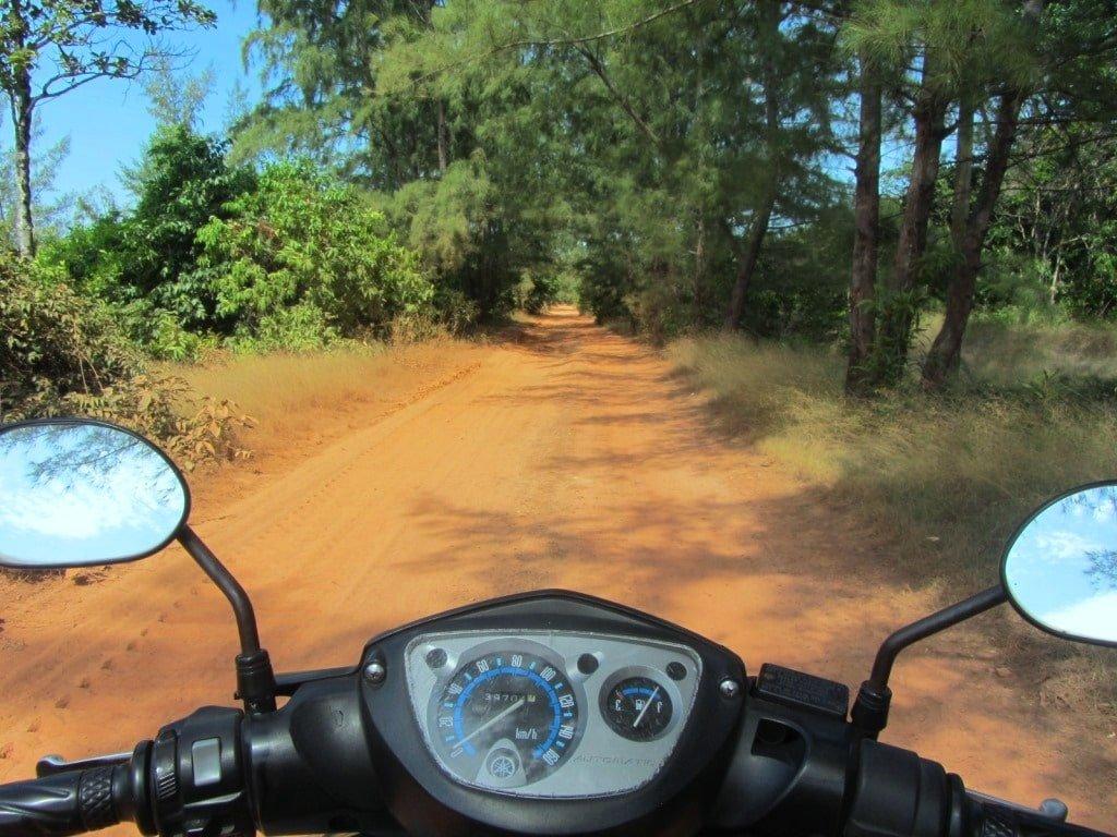 Dirt road to Vung Bau Beach, Phu Quoc Island, Vietnam