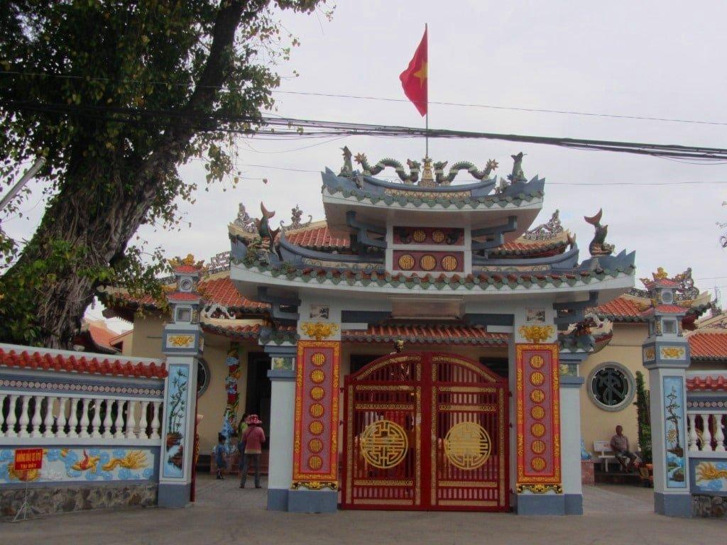 Nguyen Trung Truc temple, Rach Gia, Mekong Delta, Vietnam