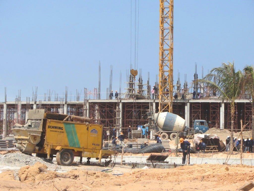 Resort construction on Phu Quoc Island