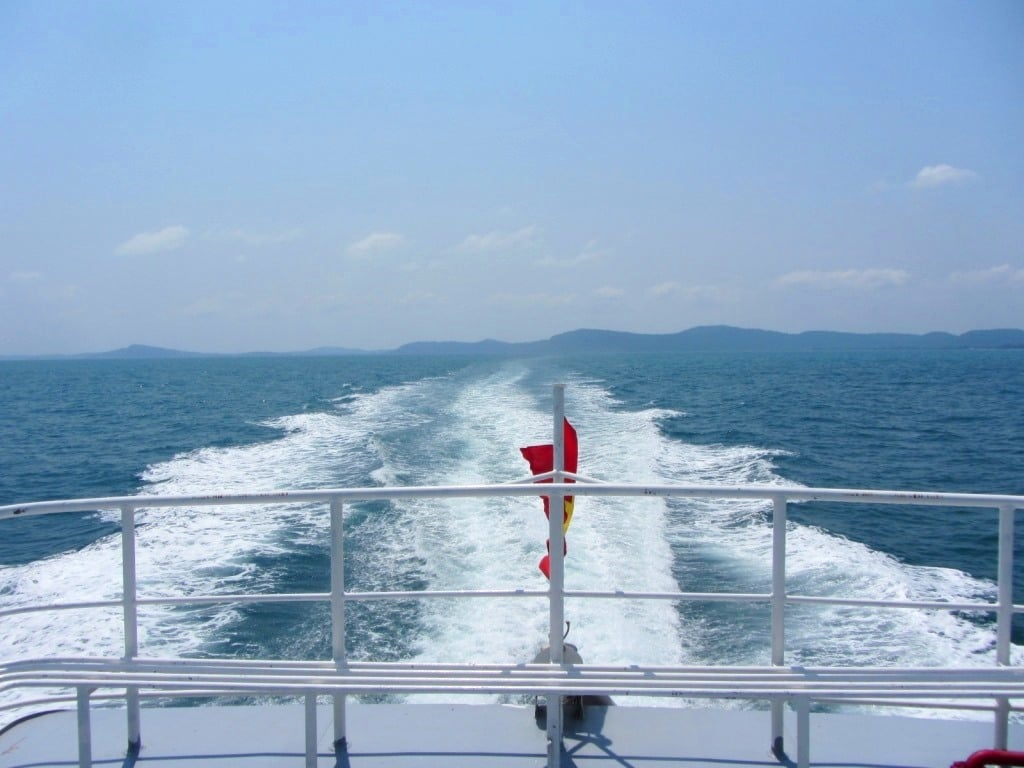 The fast boat ferry, Phu Quoc Island to Rach Gia, Vietnam