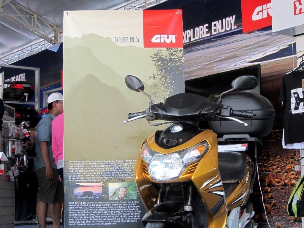 Stavros, my motorbike, at the Vietnam Motorbike Festival