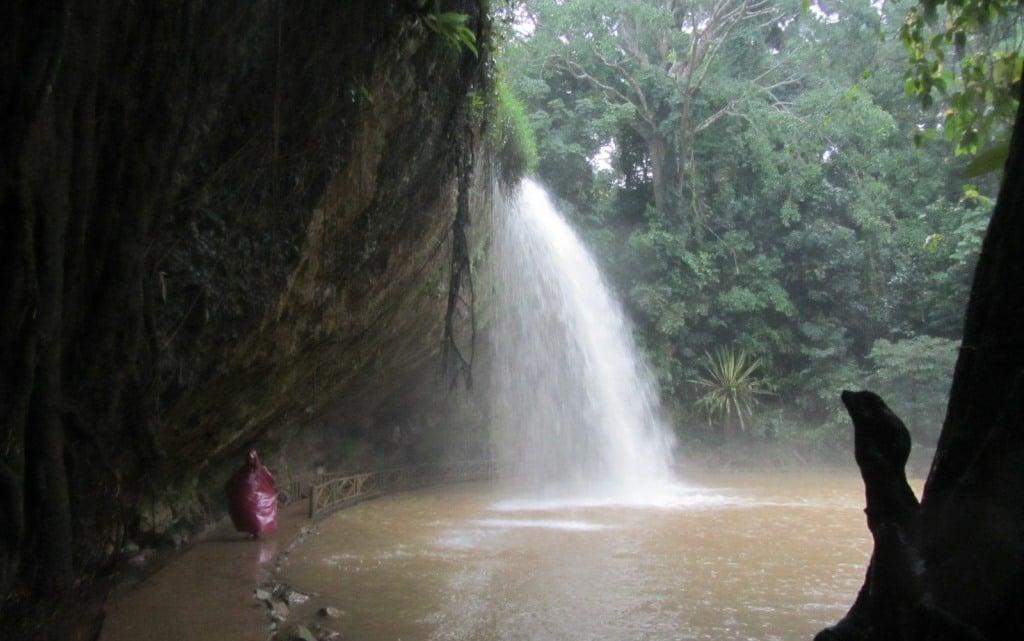Pathway behind the falls at Prenn