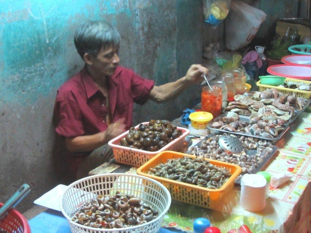 Street food, shellfish, Saigon