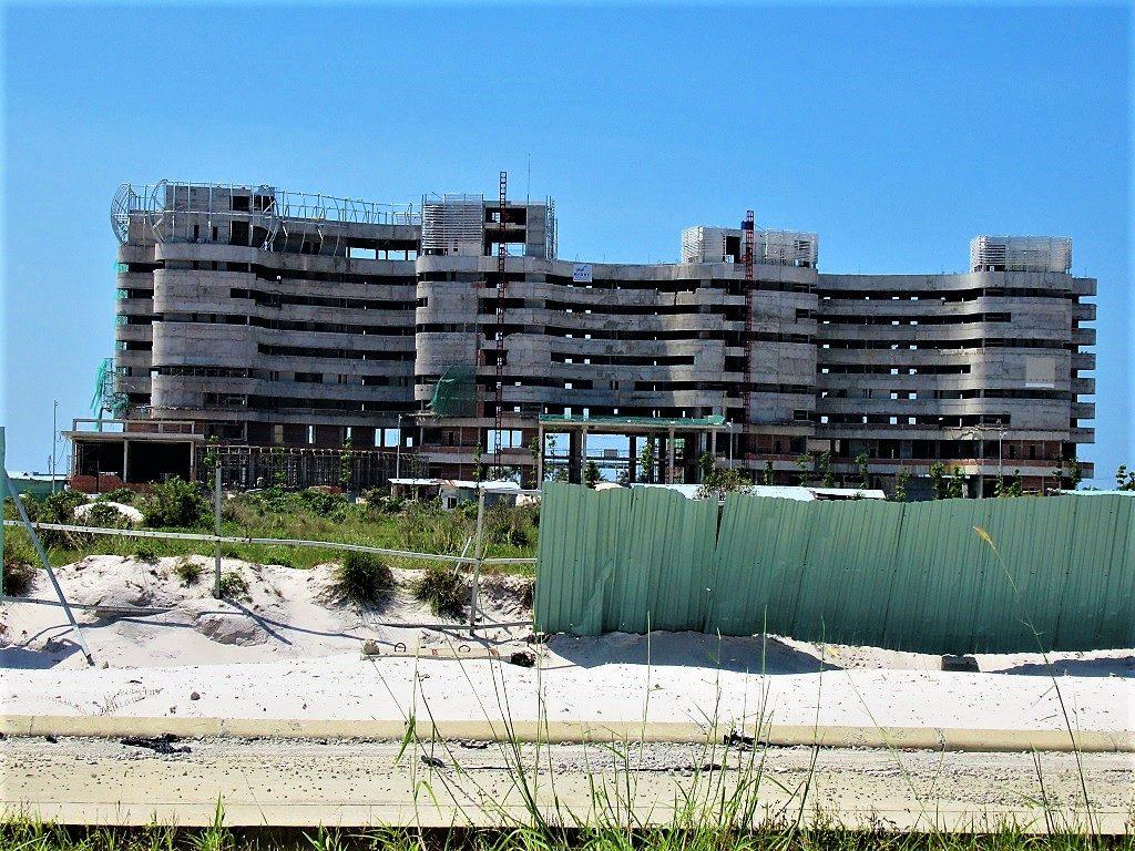 Resort construction on Long Beach, Phu Quoc Island, Vietnam