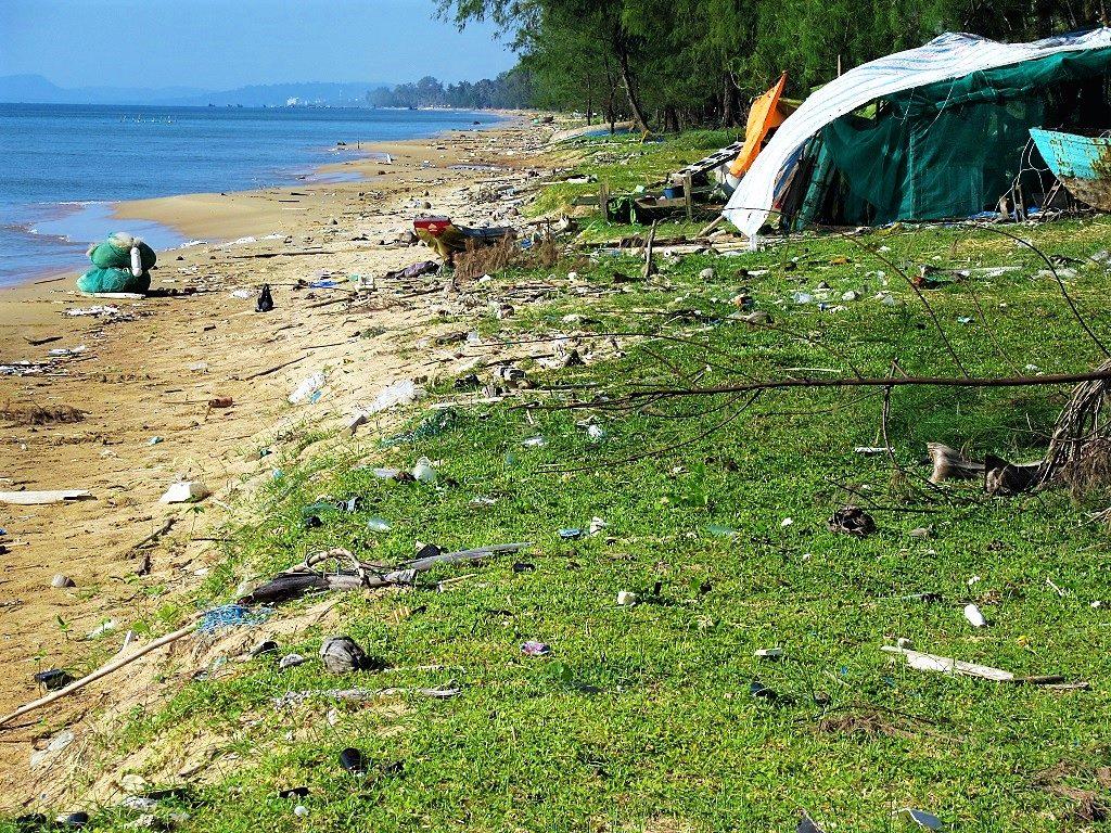 Trash on Long Beach, Phu Quoc Island, Vietnam