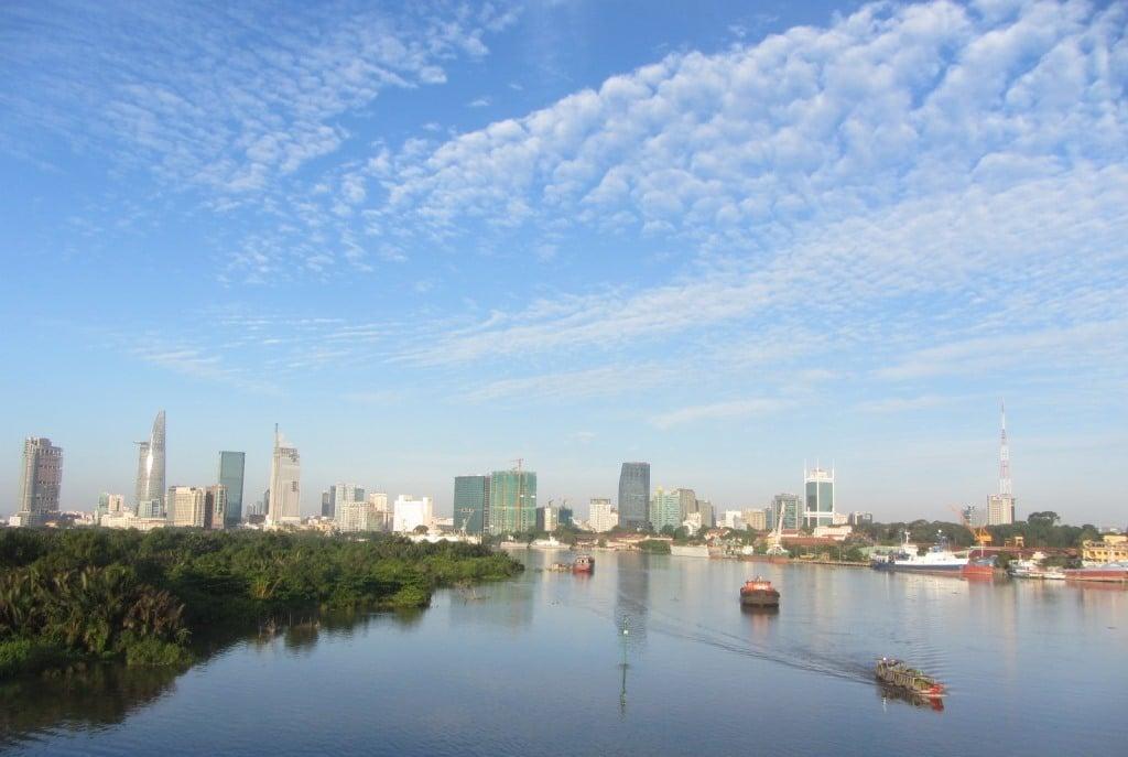 Cleansed: Saigon bathes in dawn light