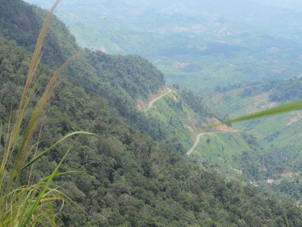 The mountain pass from Dalat to Nha Trang