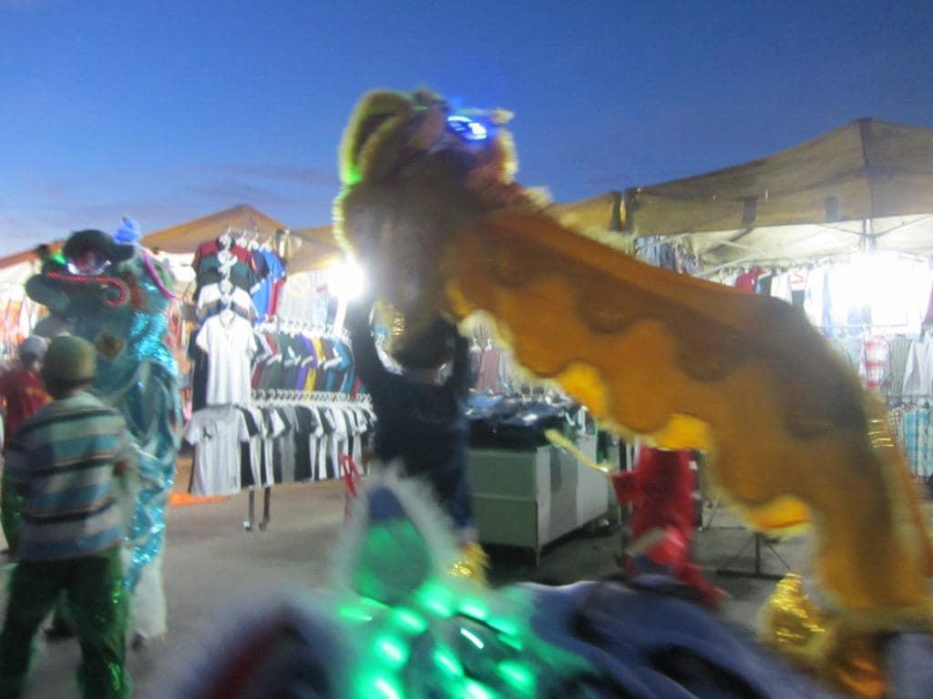 Dragon dancers in Quang Ngai