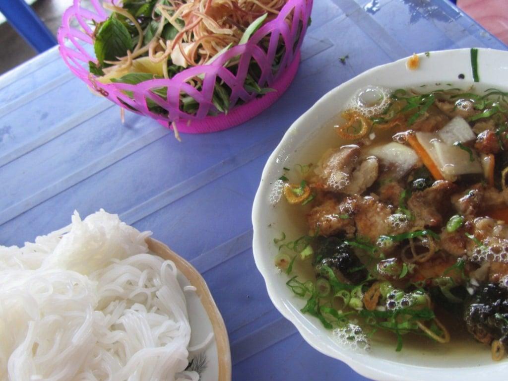 Bún chả in Mai Chau