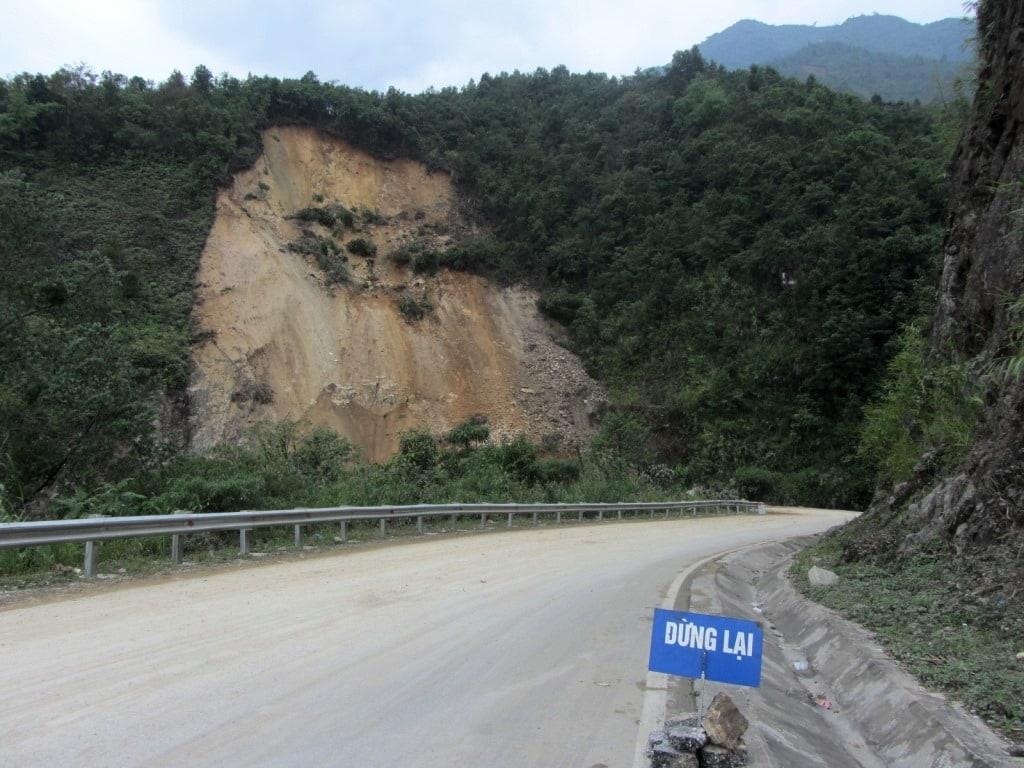 Site of the landslide