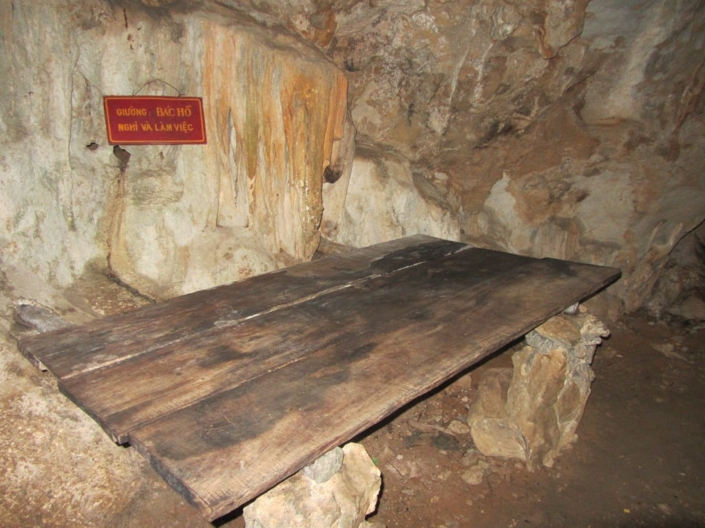 Ho's bed inside Pac Bo cave