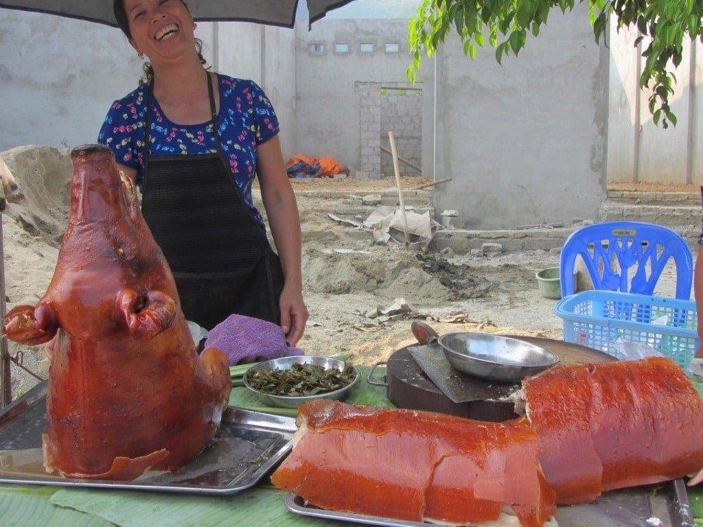 Roadside roast pork