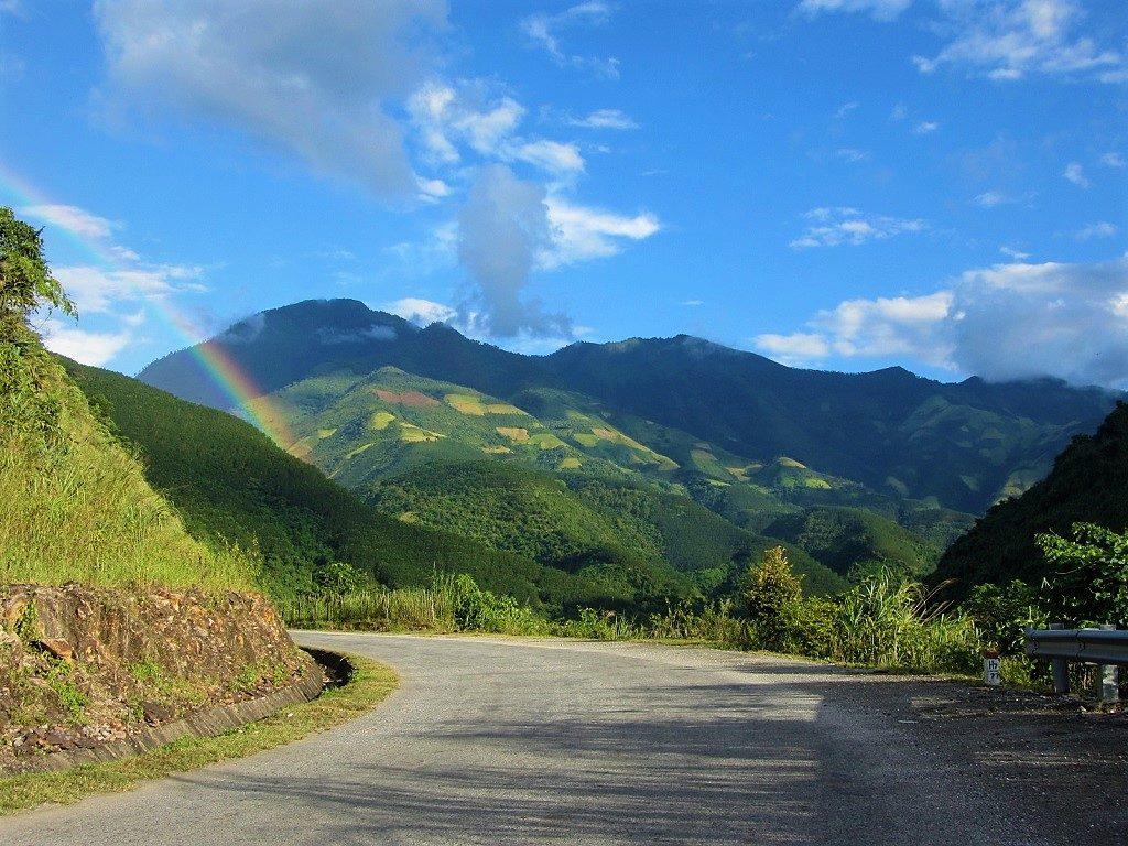 Road QL12 from Phong Tho, Lai Chau Province, Vietnam