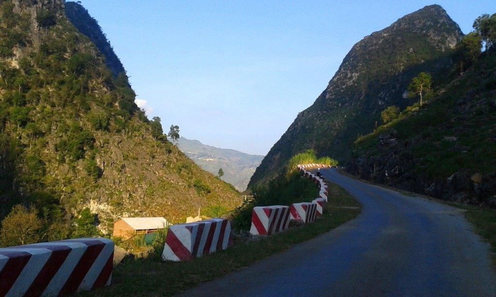 Road through the Dong Van Karst Plateau, Vietnam