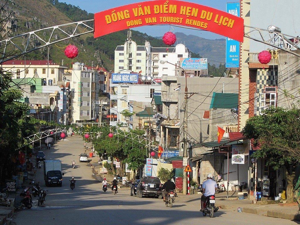 Dong Van town high street, Ha Giang, Vietnam