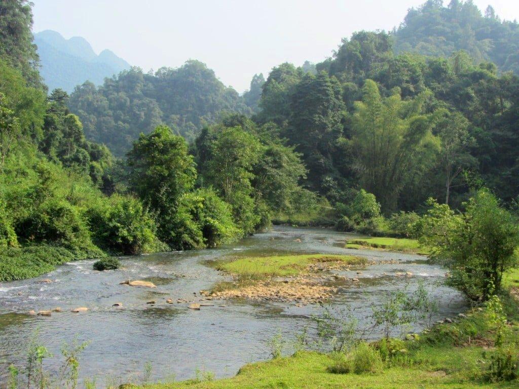 Pac Bo Cave area, Cao Bang Province, Vietnam