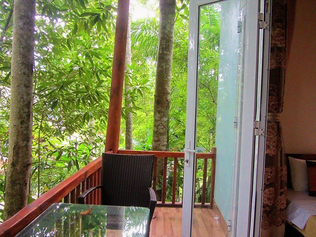 Balcony at Truong Xuan Resort, Ha Giang City, Vietnam
