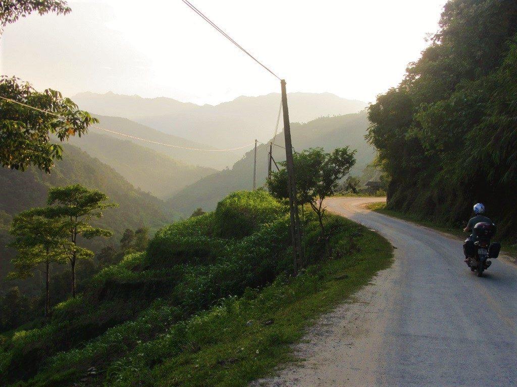 Riding along the Chay River valley, Road DT178, Hoang Su Phi, Ha Giang